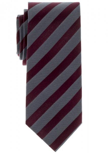 ETERNA Krawatte Extra Lang weinrot grau