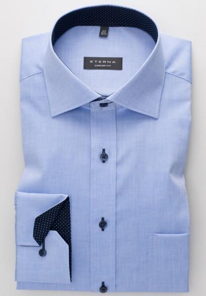 ETERNA Comfort Fit Hemd Mix-Match Oxford blau