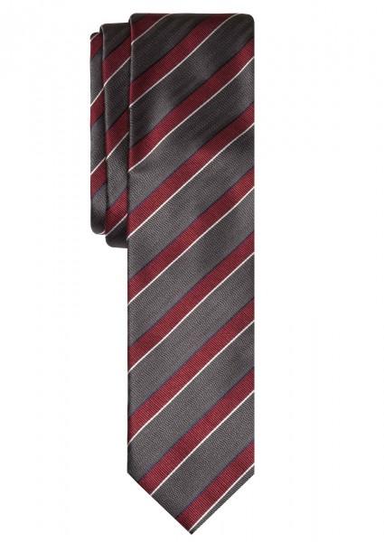 ALTEA Krawatte Extra Lang gestreift grau rot