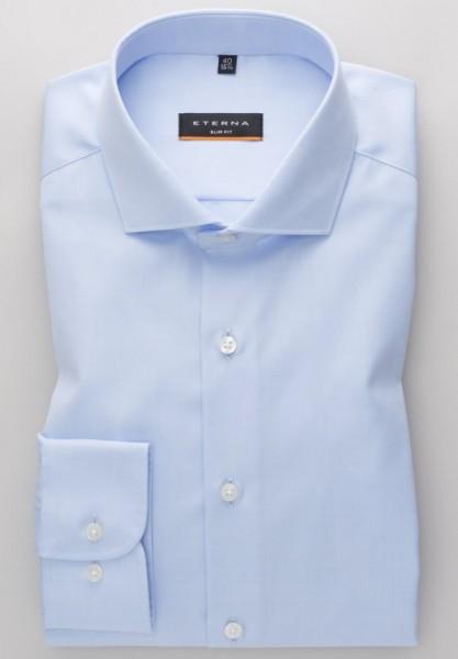 Eterna Slim Fit Cover Shirt hellblau