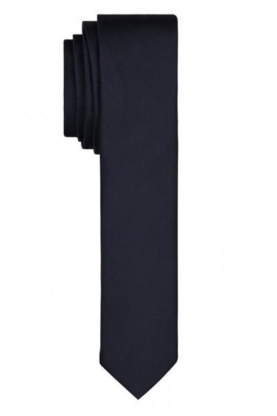 AKZENTE Uni Krawatte Reine Seide dunkelblau
