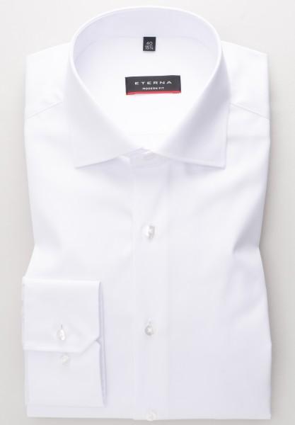 ETERNA Modern Fit Hemd 72 cm SUPER LANG weiß