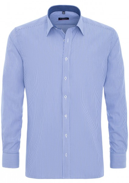 Eterna Hemd gestreift blau