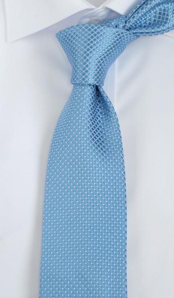 ALTEA Krawatte Reine Seide hellblau weiß