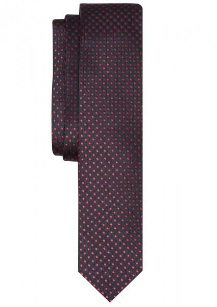 ETERNA Krawatte Extra Lang marineblau mit Tupfen