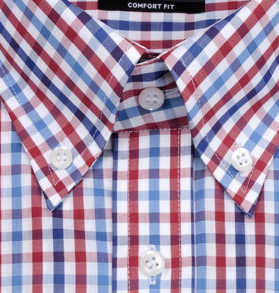 Extra langer Arm 68 mit Button-Down-Kragen