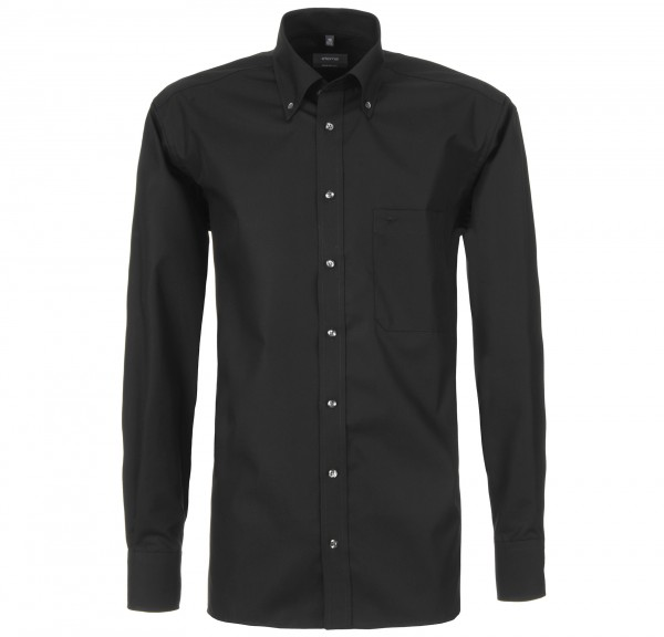 ETERNA Hemd Comfort Fit 68 cm Button Down schwarz